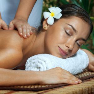 Salz Öl Massage